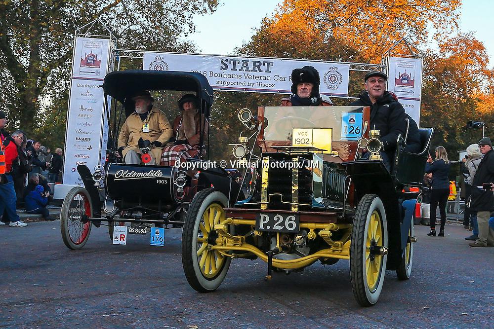 Dennis  Tonneau 1902    Driven By   Mr John Dennis OBE, Bonhams London to Brigthon Veteran Car Run Supported by Hiscox,, 06/11/2016,