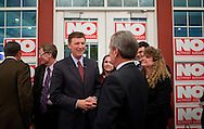 Bob Vander Plaats talks with supporters at the Iowa For Freedom watch party held at Comfort Suites in Urbandale, Iowa on Tuesday November 2, 2010. Iowa for Freedom was urging people to vote against the three Supreme Court Justices up for retention. (Stephen Mally for The New York Times)