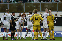 Photo: Marc Atkins.<br /> <br /> Milton Keynes Dons v Notts County. Coca Cola League 2. 02/09/2006. Matt Somner (R) of Notts County is sent off.