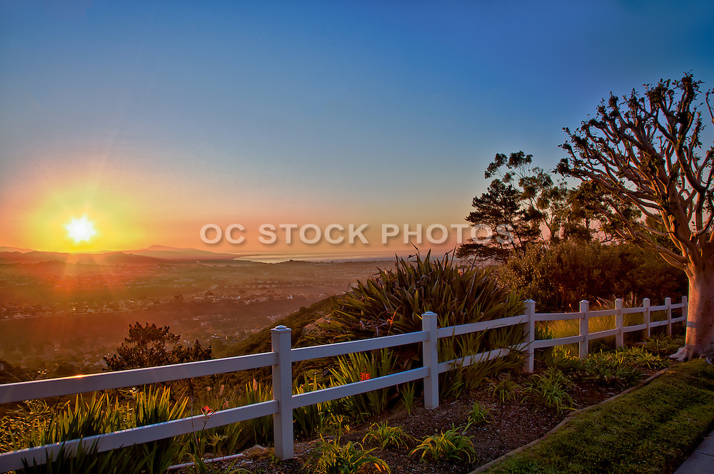 Sunrise Over Orange County California