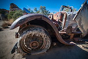 Old Lincoln Chassis, Wall Street Mill, Joshua Tree National Park, California, US
