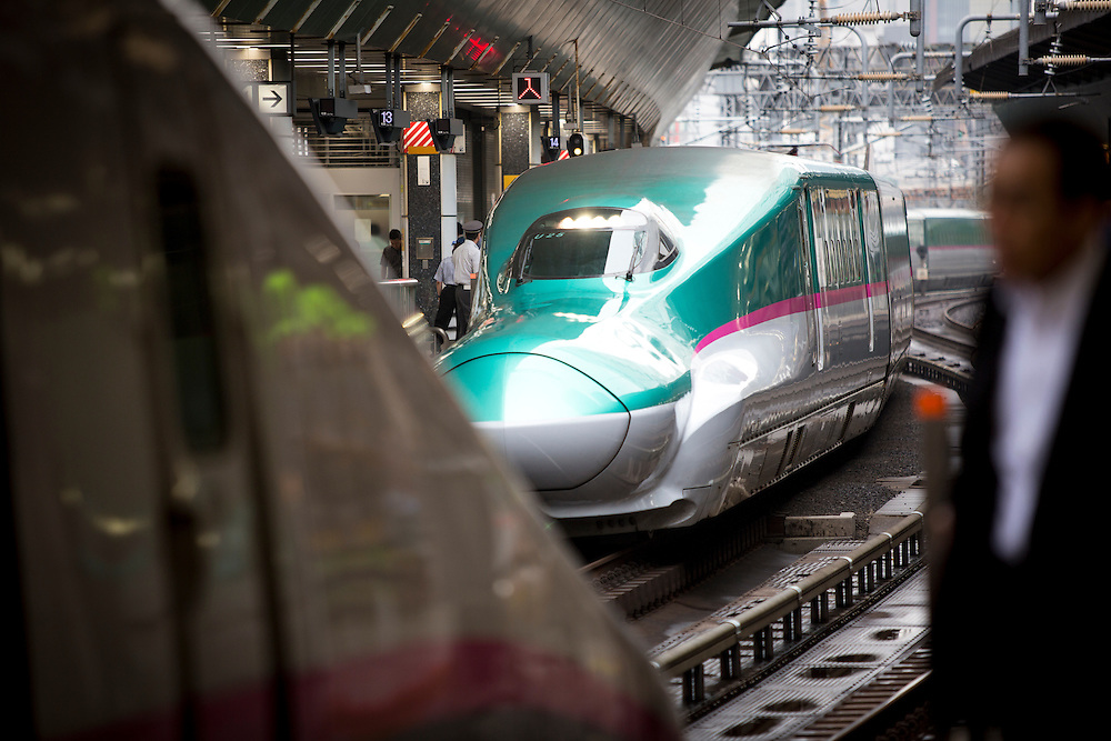 TOKYO, JAPAN - JULY 13 : Bullet train is seen at Tokyo Station on Wednesday, July 13, 2016, Tokyo, Japan.<br />   <br /> Photo: Richard Atrero de Guzman