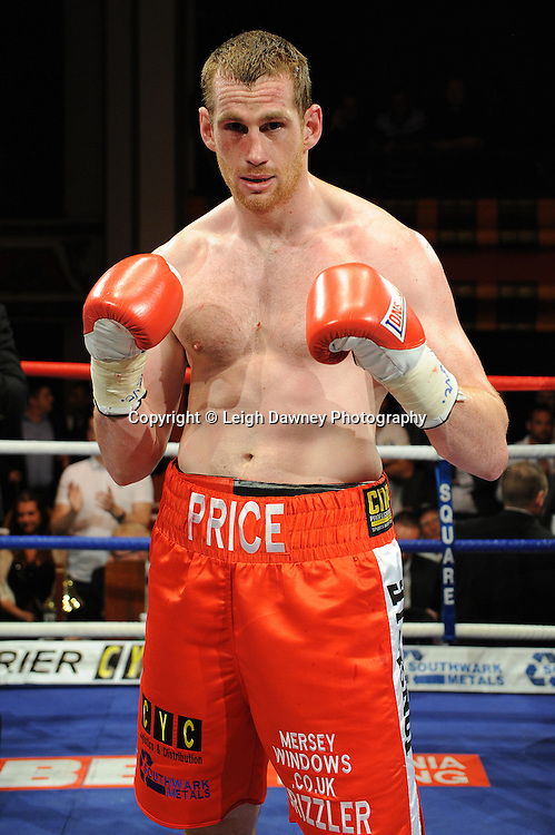 David Price (pictued) defeats Tom Dallas in the British Heavyweight Title Eliminator contest at Olympia, Liverpool on the 11th June 2011. Frank Maloney Promotions.Photo credit: Leigh Dawney 2011