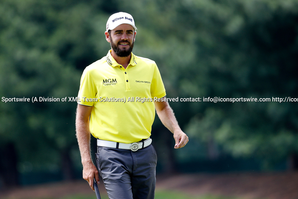 CROMWELL, CT - JUNE 23: Troy Merritt during the second round of the Travelers Championship on June 23, 2017, at TPC River Highlands in Cromwell, Connecticut. (Photo by Fred Kfoury III/Icon Sportswire)