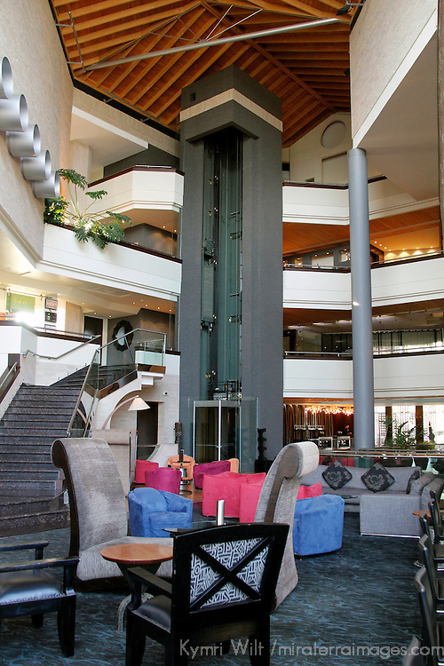 Africa, Kenya, Nairobi. Lounge and lobby at The Tribe Hotel.