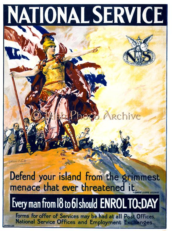 First World War British recruitment poster, circa 1915