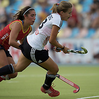 MONCHENGLADBACH - Junior World Cup<br /> Pool D: Germany - Spain<br /> photo: Darja Moellenberg (white).<br /> COPYRIGHT  FFU PRESS AGENCY/ FRANK UIJLENBROEK