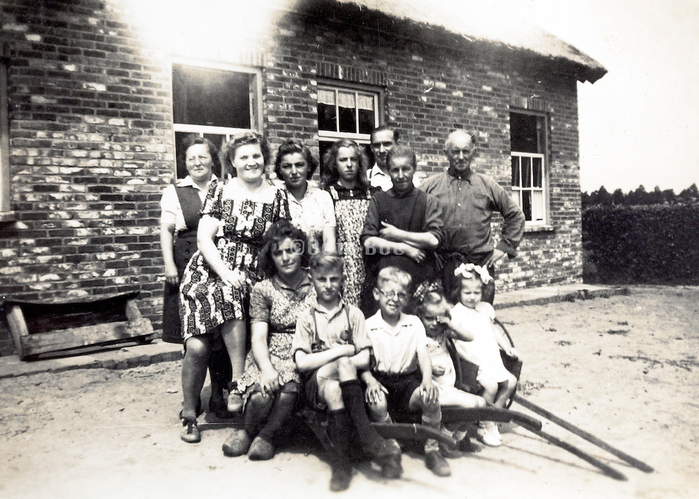 large group farmers family picture Holland 1940s