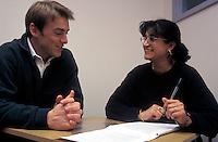 Mature student with tutor at the University of Westminster.