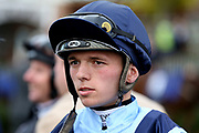Jockey Theodore Ladd during the York Coral Sprint Trophy meeting at York Racecourse, York, United Kingdom on 12 October 2019.