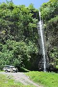 Vaiharuru waterfall, trans island safari expedition, Papenoo Valley, Island of Tahiti, French Polynesia<br />