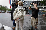 taking a family snapshot outside Paris