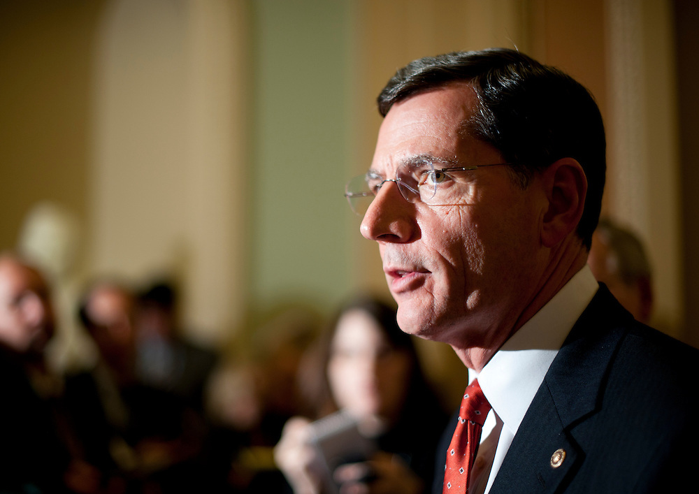 Dec 14, 2010 - Washington, District of Columbia, U.S. -  Senator JOHN BARRASSO,(R-WY) speaks to the media at the Capitol on Tuesday.  (Credit Image: © Pete Marovich/ZUMA Press)