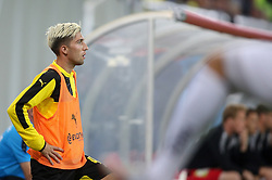 Kevin Kampl of Borussia Dortmund at warming up during football match between WAC Wolfsberg (AUT) and  Borussia Dortmund (GER) in First leg of Third qualifying round of UEFA Europa League 2015/16, on July 30, 2015 in Wörthersee Stadion, Klagenfurt, Austria. Photo by Vid Ponikvar / Sportida