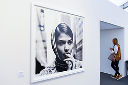 "London, UK.  17 May 2017.  ""Helena Christensen"", New York, 1996, by Anton Corbijn.  Preview of Photo London 2017 at Somerset House.  Held for the third time, the event showcases the best in contemporary photography, from 89 galleries from 16 different countries, for collectors and enthusiasts and will be on from 18 - 21 May. Credit: Stephen Chung / Alamy Live News"
