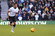 Derby County defender Cyrus Christie (2) during the Sky Bet Championship match between Derby County and Sheffield Wednesday at the iPro Stadium, Derby, England on 21 February 2015. Photo by Aaron Lupton.
