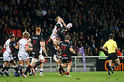 Liam Gill to LOU during the European Rugby Challenge Cup, Pool 2, between Lyon OU and Sale Sharks on October 20, 2017 at Matmut stadium in Lyon, France - Photo Romain Biard / Isports / ProSportsImages / DPPI