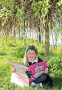 Aoibhe Ní Chuláin, Junior Infant  pupil from Scoil Sailearna, Inverin, Co. Galway who will be presented with a medal for her prize-winning original story at this year's Write a Book / Scríobh Leabhair competition, run by Galway Education Centre, in the Radisson blu Hotel on Thursday 30th April.  Photo:Andrew Downes