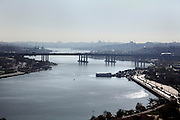 panoramic view of Istanbul from Golden Horn upstream river viewing point
