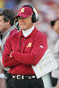 LANDOVER, MD - NOVEMBER 26:  Head coach Joe Gibbs of the Washington Redskins works the sidelines for a win over the Carolina Panthers at FedExField on November 26, 2006 in Landover, Maryland. The Redskins defeated the Panthers 17-13. ©Paul Anthony Spinelli *** Local Caption *** Joe Gibbs