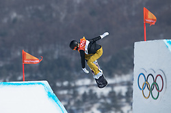 February 12, 2018 - Pyeongchang, South Korea - Silje Norendal of Norway in action during the Womens Snowboard Slopestyle finals at Phoenix Snow Park at the Pyeongchang Winter Olympic Games.  Photo by Mark Reis, ZUMA Press/The Gazette (Credit Image: © Mark Reis via ZUMA Wire)