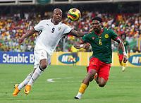 Fotball<br /> Foto: DPPI/Digitalsport<br /> NORWAY ONLY<br /> <br /> FOOTBALL - AFRICAN CUP OF NATIONS 2008 - 1/2 FINAL - 7/02/2008 - GHANA v CAMEROON - MANUEL AGOGO (GHA) / RIGOBERT SONG (CAM) <br /> <br /> Afrika mesterskapet<br /> Ghana v Kamerun