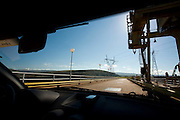 Sao Jose da Barra_MG, Brasil...Carro na rodovia proximo a hidreletrica de Furnas...A car on highway next to Furnas hydroelectric plant...Foto: LEO DRUMOND / NITRO