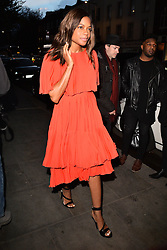 © Licensed to London News Pictures. 27/04/2016.  PARIS HILTON, NAOMIE HARRIS, SIRP PHILLIP GREEN, CHOLE GREEN, WILLI.I.AM, DAVID GANDY, ROBERTO CAVALLI, OLLY MARS, ROSIE FORTESCUE, MILLIE MACKINTOSH, NICOLA ROBERTS AND AMBER LE BON are expected guests at the Ours  restaurant launch party. London, UK. Photo credit: Ray Tang/LNP