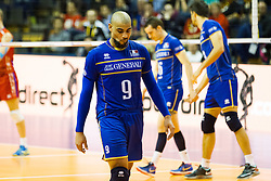 10.01.2016, Max Schmeling Halle, Berlin, GER, CEV Olympia Qualifikation, Frankreich vs Russland, Finale, im Bild EarvinNgapeth (#9, FRA) // during 2016 CEV Volleyball European Olympic Qualification Final Match between France and Russia at the Max Schmeling Halle in Berlin, Germany on 2016/01/10. EXPA Pictures © 2016, PhotoCredit: EXPA/ Eibner-Pressefoto/ Wuechner<br /> <br /> *****ATTENTION - OUT of GER*****