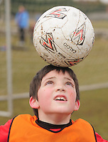 At  Creggmore Football Club, Ciaran Keane  got some extra training in Photo:Andrew Downes.