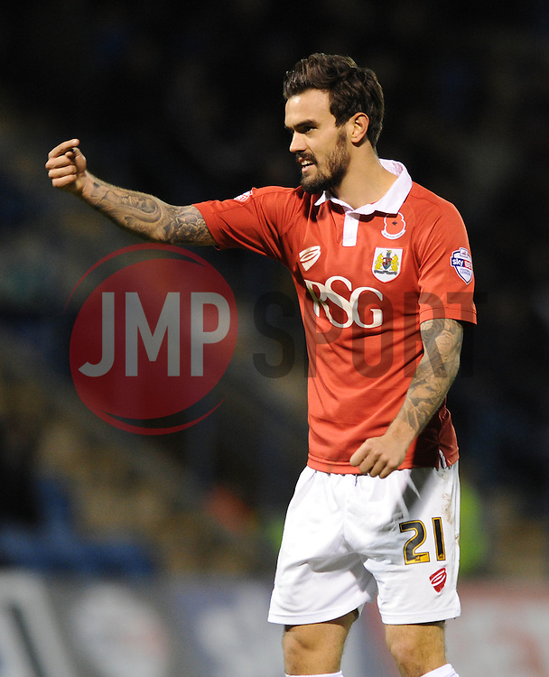 Bristol City's Marlon Pack - Photo mandatory by-line: Dougie Allward/JMP - Mobile: 07966 386802 - 08/11/2014 - SPORT - Football - Gillingham - Priestfield Stadium - Gillingham v Bristol City - FA Cup - Round One