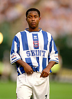 Leon Knight (Brighton) On Loan from Chelsea. Brighton & Hove Albion v Leicester City. 4/8/2003. Pre Season friendly match. Credit : Colorsport/Andrew Cowie