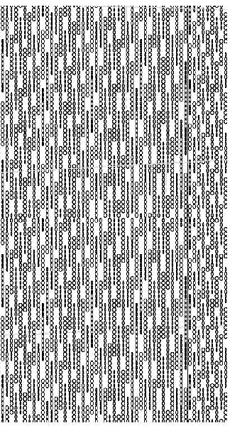Custom perforation pattern drawing inspired by Moire patterns.