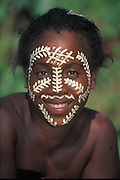 Woman with Sandalwood Face-paint<br />