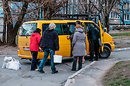 Picking-up food from Dnipropetrovsk citizen.