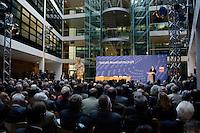 """14 JUN 2005, BERLIN/GERMANY:<br /> Gerhard Schroeder, SPD, Bundeskanzler, haelt eine Rede, Kongress der SPD Bundestagsfraktion zum Thema """"Soziale Marktwirtschaft"""", Willy-Brandt-Haus<br /> IMAGE: 20050613-03-085<br /> KEYWORDS: Gerhard Schröder"""