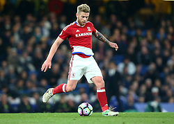 May 8, 2017 - Chelsea, Greater London, United Kingdom - Adam Clayton of Middlesbrough.during Premier League match between Chelsea and Middlesbrough at Stamford Bridge, London, England on 08 May 2017. (Credit Image: © Kieran Galvin/NurPhoto via ZUMA Press)