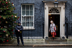 © Licensed to London News Pictures. 17/12/2019. London, UK. International Trade Secretary Liz Truss leaving Downing Street after attending a Cabinet meeting this morning. Photo credit : Tom Nicholson/LNP