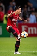 SYDNEY, AUSTRALIA - APRIL 10: Shanghai SIPG FC player Zhang Wei (2) controls the ball at The AFC Champions League football game between Sydney FC and Shanghai SIPG FC on April 10, 2019, at Netstrata Jubilee Stadium in Sydney, Australia. (Photo by Speed Media/Icon Sportswire)