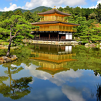 Golden Pavilion at Kinkaku-ji in Kyoto, Japan<br />