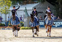 VON BREDOW-WERNDL Jessica (GER), TSF Dalera BB, SCHNEIDER Dorothee (GER), Showtime FRH, WERTH Isabell (GER), Bella Rose 2<br /> Rotterdam - Europameisterschaft Dressur, Springen und Para-Dressur 2019<br /> Medal ceremony: Dressage Individual - Longines FEI Dressage European Championship- Grand Prix Freestyle<br /> Grand Prix Kür<br /> 24. August 2019<br /> © www.sportfotos-lafrentz.de/Stefan Lafrentz