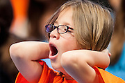 ALEX HOWE, 9, of VIctorville, CA, competes in round three of the 85th Annual Scripps National Spelling Bee at the Gaylord National Resort & Convention Center in National Harbor, Md., near Washington, D.C.