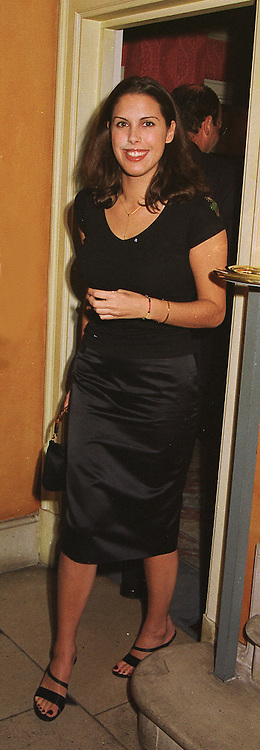 MISS JESSICA DE ROTHSCHILD a member of the banking family, at a party in London on 4th February 1999.MNY 52