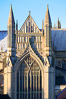 Early 13th century Early English east end of Beverley Minster with 9 light perpendicular east window of 1416