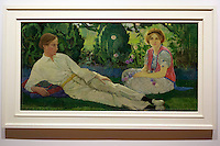 Edinburgh. UK. A double portrait by the celebrated Edinburgh painter Cecile Walton on display in Scottish National Portrait Gallery. Pako Mera