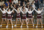 New Paltz cheerleaders cheer during a boys' basketball game against Red Hook on Jan. 9, 2009, in New Paltz.