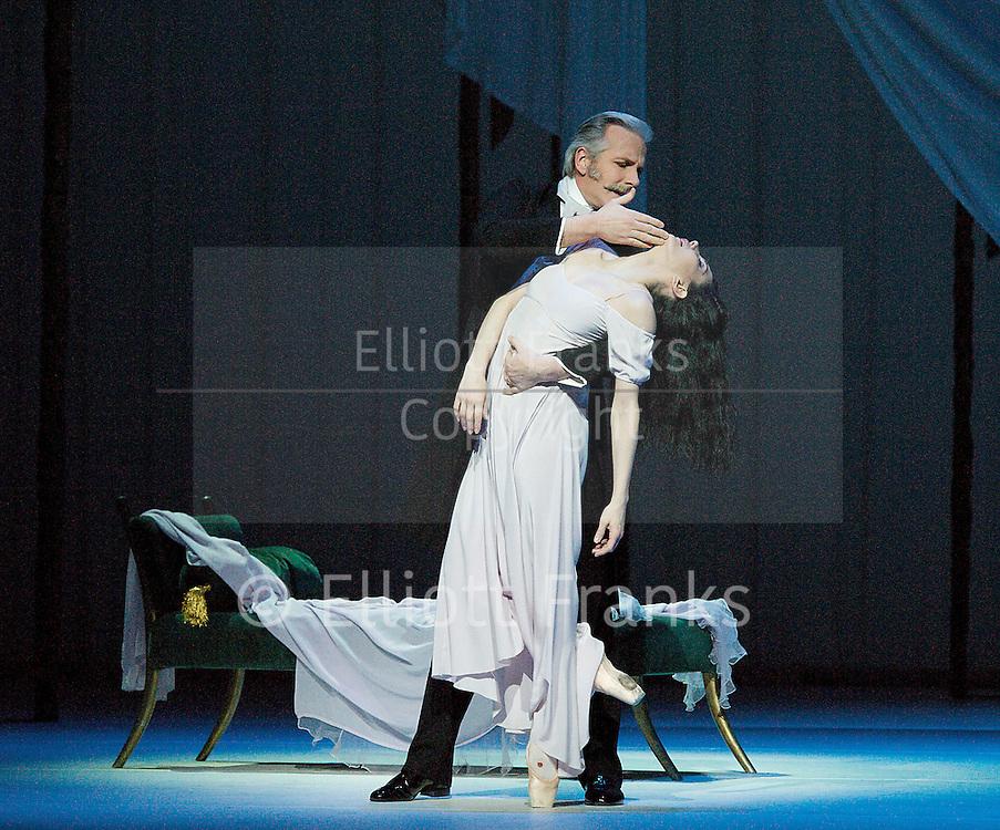 The Royal Ballet <br /> 5 Bill<br /> at The Royal Opera House, Covent Garden, London, Great Britain <br /> rehearsal <br /> 11th February 2013 <br /> <br /> <br /> Marguerite and Armand<br /> <br /> choreography by Frederick Ashton <br /> Music by Franz Liszt<br /> <br /> Tamara Rojo as Marguerite<br /> <br /> Sergei Polunin as Armand<br /> <br /> Christopher Saunders as His Father<br /> <br /> Gary Avis as a Duke<br /> <br /> Admirers of Marguerite<br /> <br /> Sander Blommaert<br /> Bennet Gartside<br /> Ryoichi Hirano<br /> Valeri Hristov<br /> Kenta Kura<br /> Nicol Edmonds<br /> Andrej Uspenski<br /> Thomas Whitehead<br /> <br /> Jaqueline Clark as Maid<br /> <br /> <br /> Photograph by Elliott Franks