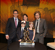 Hobey Baker's family with Hobey Baker Award at the Loews Hotel, Center City in Philadelphia, PA Friday April 11th 2014<br /> <br /> Mandatory Credit: Todd Bauders/ ContrastPhotography.com