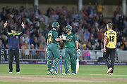 Six for Dan Christian during the NatWest T20 Blast Quarter Final match between Notts Outlaws and Somerset County Cricket Club at Trent Bridge, West Bridgford, United Kingdom on 24 August 2017. Photo by Simon Trafford.