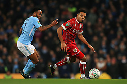 Raheem Sterling of Manchester City takes on Raheem Sterling of Manchester City - Mandatory by-line: Matt McNulty/JMP - 09/01/2018 - FOOTBALL - Etihad Stadium - Manchester, England - Manchester City v Bristol City - Carabao Cup Semi-Final First Leg